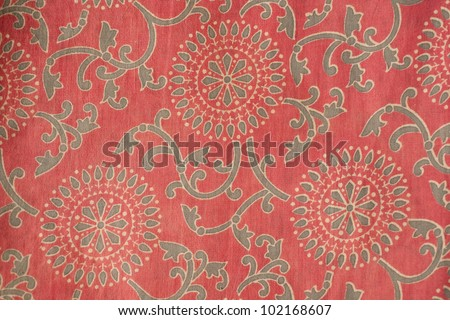 Indian cotton fabric with traditional design