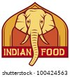 indian food label (design) - stock vector