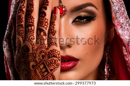 indian woman's face