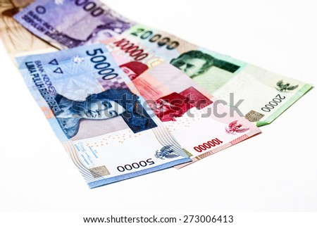 Indonesian rupiah money on background