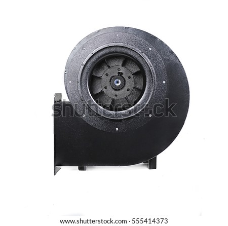 industrial fan isolated on white