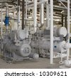 Industrial Gas Compressor - stock photo