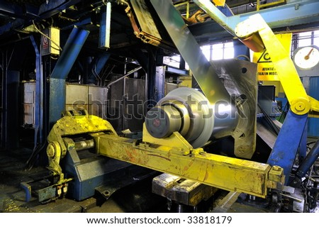 industrial machine for rolling steel sheet