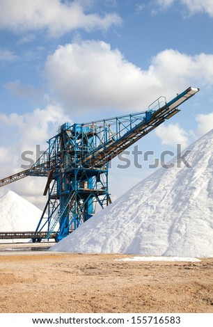 industry of marine salt and storage