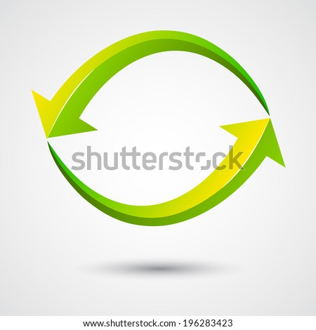 infinity arrow , illustration, symbol