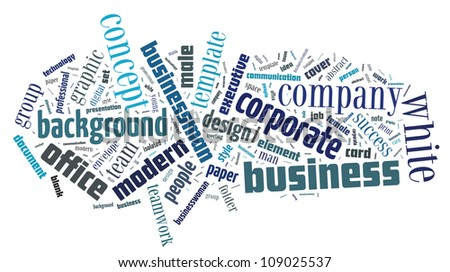 illustration word cloud on native advertising stock