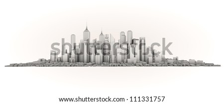 infrastructure concept: isolated render of an skyline
