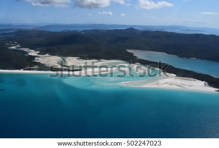Inlet at whitehavenbeach, Queensland, australia