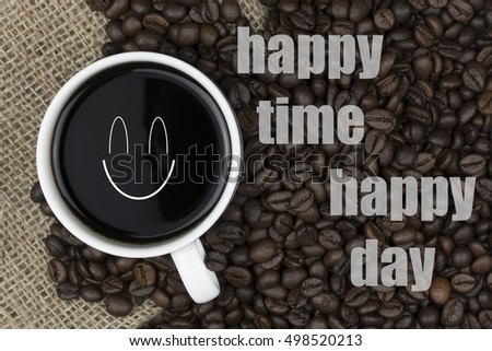 Delightful Inspirational Quote With Coffee Beans And Coffee Cup Background   Inspiring  Creative Motivation