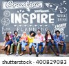 Inspire Aspiration Expectation Goal Hopeful Concept - stock photo