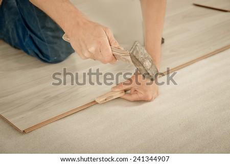 Builder Lay Laminate Flooring Stock Photo 200299556 Shutterstock