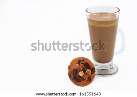 Instant coffee and chocolate muffin