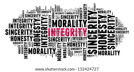 Integrity in word cloud