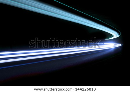 Interesting and abstract lights in blue that can be used as background or texture