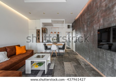 Interior Design Of Modern Apartment, Living Area And Open Kitchen Part 89