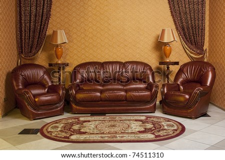 interior furniture sofa and two chairs. see more on my page