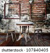 Interior grunge room. - stock photo