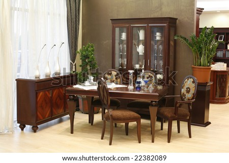 interior of a dining room
