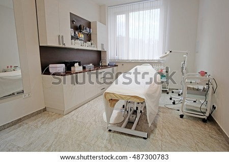 Interior of a modern cosmetology office
