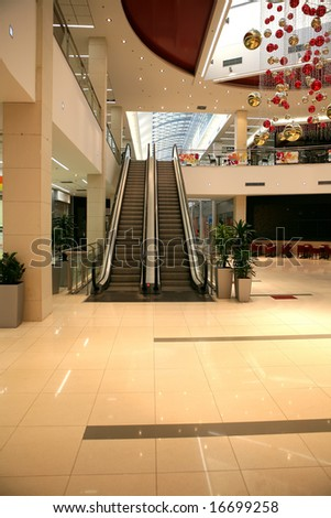 interior of a shopping center