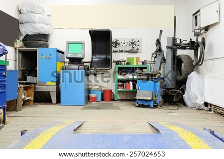 Messy Cluttered Garage Used Storage Junk Stock Photo