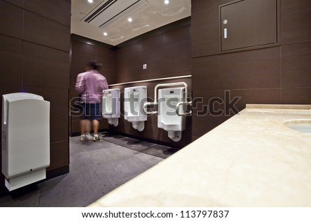interior of male toilet