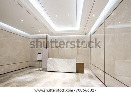 Modern Corridor Interior Image Rendering Stock