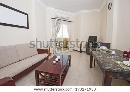 Luxury Hotel Lobby Furniture Stock Photo 285675665