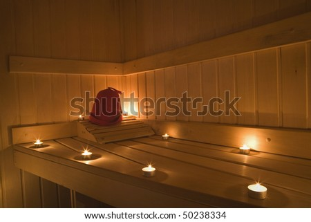 Interior View of Sauna Bath