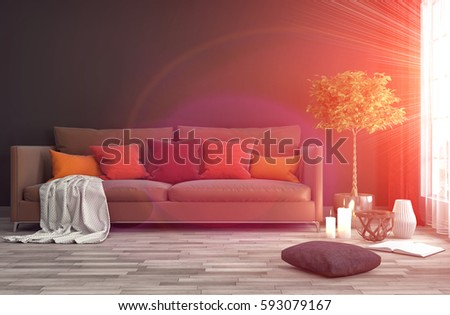 Modern Yellow Couch Living Room Motif - Living Room Designs ...