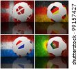 International flag on 3d football for Euro 2012 Group B - stock photo