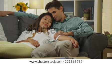 Interracial cuddling