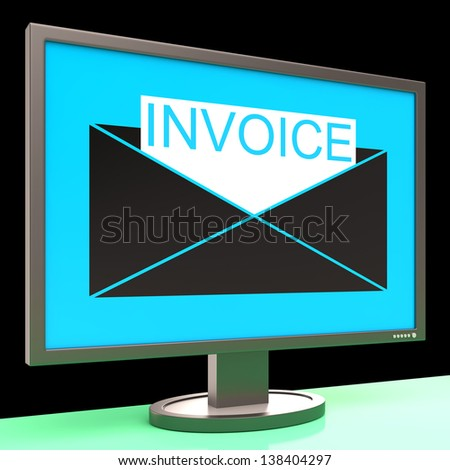 Free Printable Receipts For Payment Excel Invoice Paid Stamp Shows Bill Payments Stock Illustration  Constructive Receipts Word with Free Printable Blank Invoice Template Invoice In Envelope On Monitor Showing Sending Payments Or Bills Basic Invoice Template Pdf Pdf