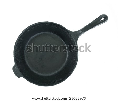 Iron Skillet Top View Isolated