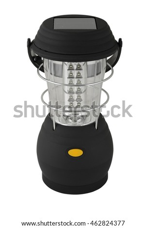 isolated camping lamp on white background with clipping path