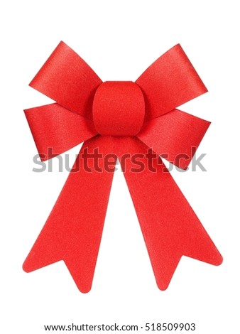 Isolated Christmas bow