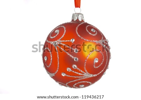isolated christmas glitter ball
