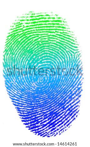 Rainbow Finger Print Stock Vector 50595406
