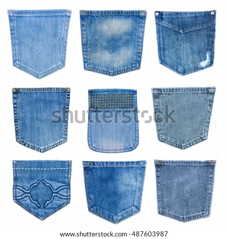 Jeans Back Pocket Texture Collection Different J...