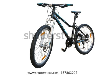 isolated female bicycle on a white background