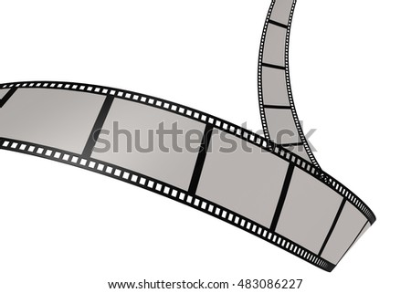 Isolated film with white background, 3D rendering