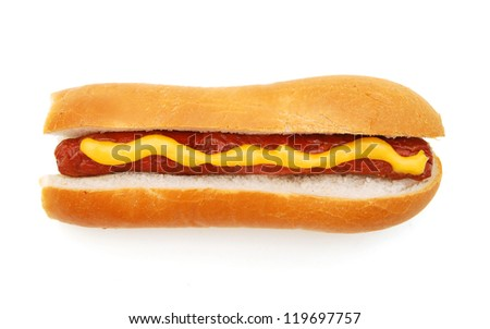isolated hot dog