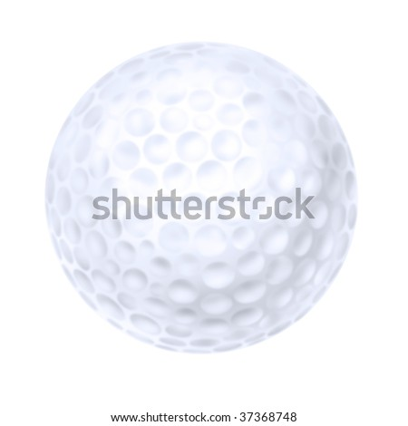 Isolated illustration of a dimpled golf ball