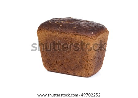isolated loaf of rye bread