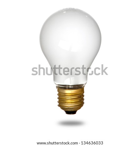 Isolated mate light bulb on white background