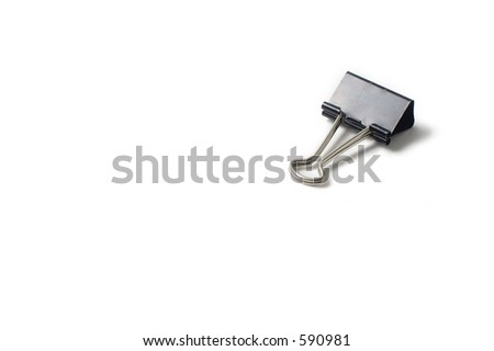 isolated paper clip on white background