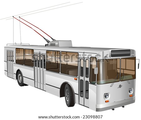 Isolated Urban trolleybus. Vector version illustration see in my portfolio.