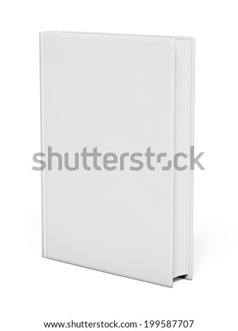 Isolated white blank book on white