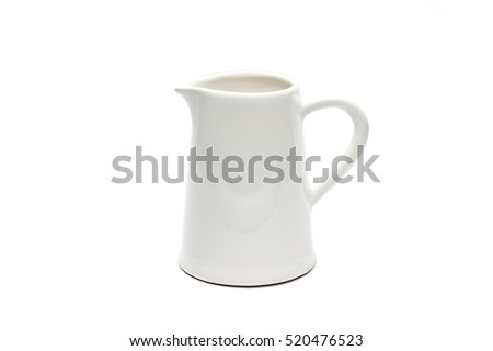 Isolated white jug