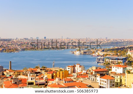 Istanbul city, Turkey. View from the Galata tower